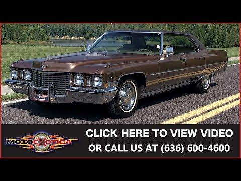 1972 Cadillac Sedan DeVille    SOLD