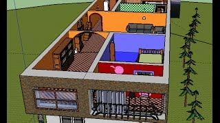 getlinkyoutube.com-SketchUp تصميم رائع لمنزل على برنامج سكتش أب المصمم محمد البشير