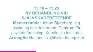 Forskartorget 2015 - NY BEHANDLING VID SJÄLVSKADEBETEENDE