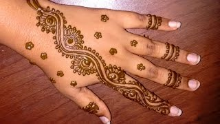 easy simple mehndi designs for hands: Matroj Mehndi Designs