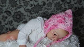 getlinkyoutube.com-Touca em crochê  para Bebê modelo Retro parte-1