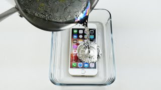 getlinkyoutube.com-How To Properly Cook an iPhone 6S in Hot Metal