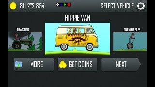 getlinkyoutube.com-Hill Climb Racing Updated! (New Hippie Van and Rainbow Track!) 1.17.0
