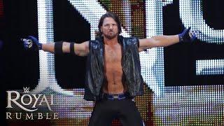 getlinkyoutube.com-WWE Network: AJ Styles makes his WWE debut in the Royal Rumble Match: Royal Rumble 2016