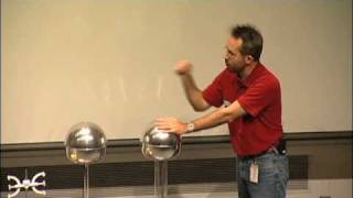 getlinkyoutube.com-Should a Person Touch 200,000 Volts? A Van de Graaff generator experiment!