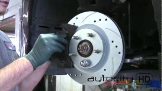 getlinkyoutube.com-2008 Lancer GTS Slotted & Drilled Rotors (Install)