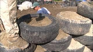 getlinkyoutube.com-Remplir les pneus des murs d'un Earthship comme un pro !