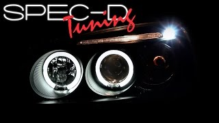 SPECDTUNING DEMO VIDEO: 2001-2003 HONDA CIVIC 2/4DR LED HALO PROJECTOR HEADLIGHTS