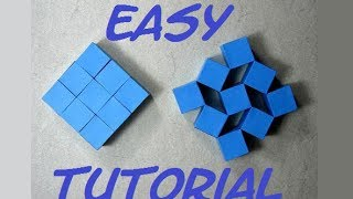 getlinkyoutube.com-How To Make Origami Moving Cubes Easy. (Full HD) (Craft From Origami)