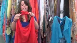getlinkyoutube.com-How to Make a Vest from a Scarf!