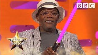 getlinkyoutube.com-Samuel L. Jackson's Purple Light Sabre - The Graham Norton Show: Series 13 Episode 13 - BBC One