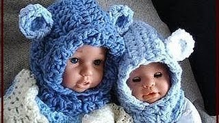 getlinkyoutube.com-BABY BEAR HOODIE, how to crochet, newborn to age 5, crochet pattern