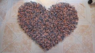 getlinkyoutube.com-Alfombra decorativa en forma de corazón