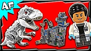 getlinkyoutube.com-Lego Jurassic World INDOMINUS REX Breakout 75919 Stop Motion Build Review