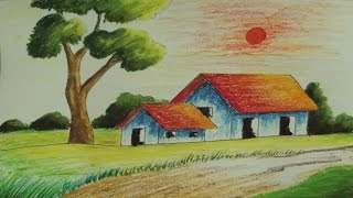 Pastel Painting | How to Draw a simple Landscape | Episode-5
