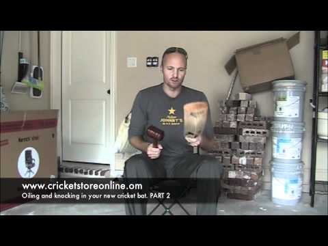 How to oil and knock in your cricket bat with Cricket store online PART 2