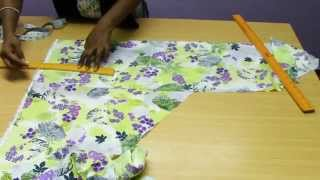 getlinkyoutube.com-Kids Umbrella Dress -  1  Marking & Cutting