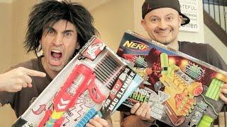 getlinkyoutube.com-NERF vs BOOMCO: Unboxing WAR!