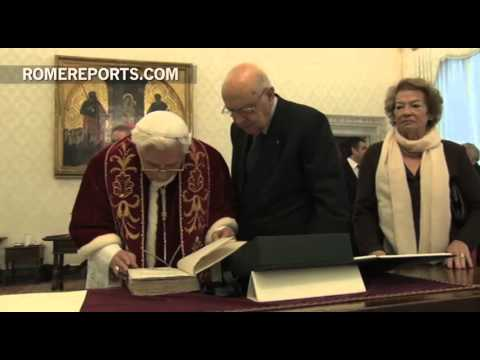 Benedict XVI meets Italian president  last meeting ever as Pope