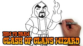 getlinkyoutube.com-How to Draw Wizard | Clash of Clans