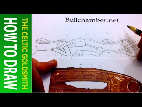 How to Draw Celtic Animals 2 - Wolf 6th century Saxon Sword Hilt 2of5