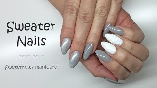 getlinkyoutube.com-Knitted / Sweater Nails #1 | Sweterkowe paznokcie || My Wonderland