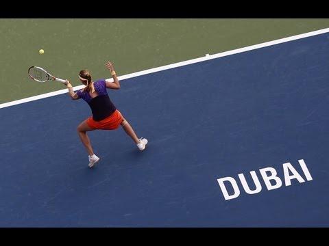 2013 Dubai Duty Free Tennis Championships Day 2 WTA Highlights