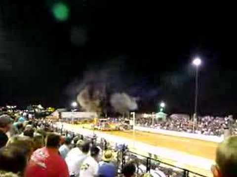 Semi-trucks drag racing at The Buck