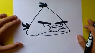 getlinkyoutube.com-Como dibujar el pajaro amarillo paso a paso - Angry birds | How to draw the yellow bird -Angry birds