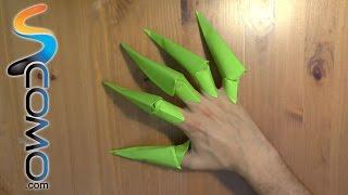 getlinkyoutube.com-Cómo hacer garras con hojas de papel