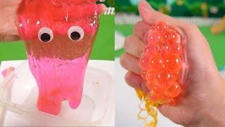 getlinkyoutube.com-쉬운 액체괴물 만들기 & 색깔이 바뀌는 스쿼시 메쉬 스트레스 볼 ★뽀로로 장난감 애니 캐릭온 TV