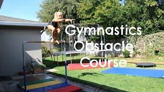 getlinkyoutube.com-Gymnastics Obstacle Course