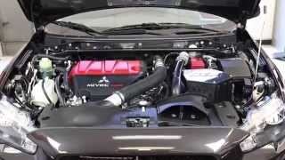 getlinkyoutube.com-Installation of the AEM air intake system for the 2008-2014 Mitsubishi Lancer Evolution 2.0L