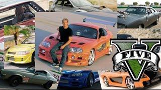 getlinkyoutube.com-GTA 5 Fast And Furious Cars - GTA V F&F Cars Remake