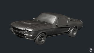 getlinkyoutube.com-Car modeling in zbrush start with polysphere (Shelby GT500)