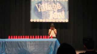 10 year old doing Cup song with 20 Cups - Talent Show