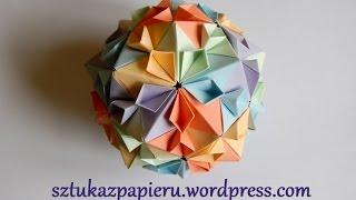 getlinkyoutube.com-Origami Cherry Blossom Ball