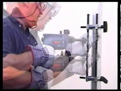 Gabarito para furação de portas: Portas de alumínio