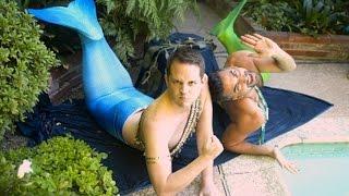 getlinkyoutube.com-Men Become Mermaids For A Day