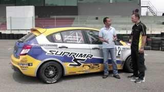 getlinkyoutube.com-Proton Suprima S vs R3 Race Car - Roda Pusing Ujian Prestasi bersama Tengku Djan Ley