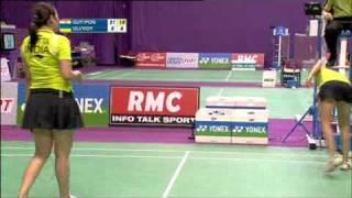 getlinkyoutube.com-Jwala Gutta - Ashwini Ponnappa - Women's Double - YONEX BWF WORLD CHAMPIONSHIPS 2010