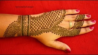getlinkyoutube.com-beautiful easy simple henna mehndi designs for hands: Matroj Mehndi designs