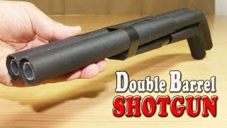 getlinkyoutube.com-How To Make A Paper Double Barrel Shotgun That Shoots Double Bullets