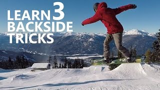 How to Back 360, Back Boardslide & Back Shifty - Snowboarding Tricks