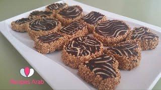 getlinkyoutube.com-تحضير صابلي ساهل بالشكلاط هشيشة/ Sablé Chocolat