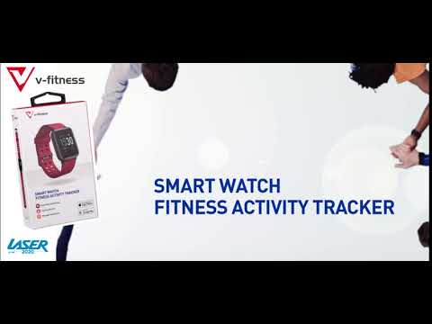 V-Fitness Smart Activity Watch - Red