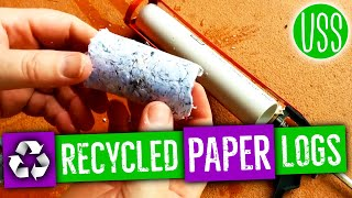 getlinkyoutube.com-Simple Fire Briquettes from Recycled Paper [OLD]