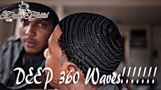 getlinkyoutube.com-Natural Hair: How to get DEEP 360 WAVES!!!