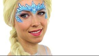 getlinkyoutube.com-Elsa Frozen | Disney Princess Face Painting Tutorial