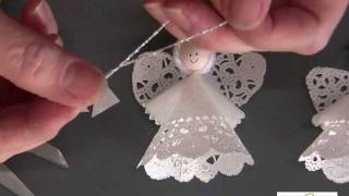 getlinkyoutube.com-How to Make a Paper Doily Angel Using Aleene's Original Tacky Glue (Long Version)